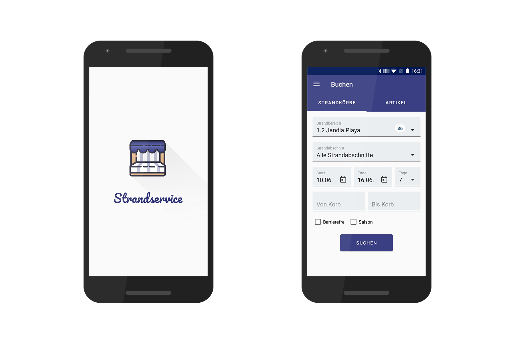 Strandservice Android-App